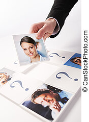 Human Resources concept. Portraits of a group of business...