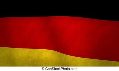 Germany Flag Background Textured (Loop-able)
