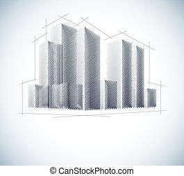 Buildings in sketch