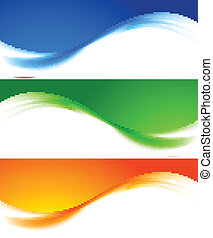 Set of colorful banners