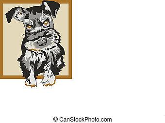 Schnauzer, Dog Sketched Vector - VEctor, Dog, Sketch, VEctor...