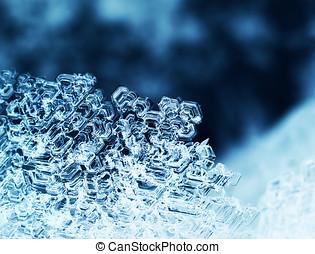 Ice crystals macro