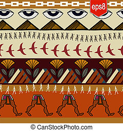 Seamless ethnic pattern with Egyptian elements