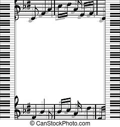 Musical frame - Illustration of a music frame with keyboards...