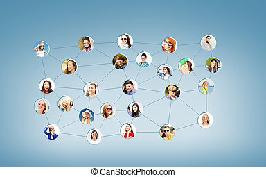 social network - networking and communication concept -...