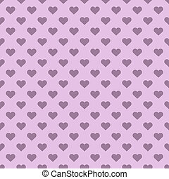 Pink heart shapes polka seamless vector background.