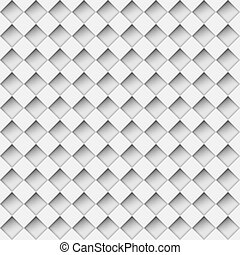 Seamless white notched diamond shapes vector pattern