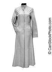 fashion coat - fashion woman coat isolated on white...