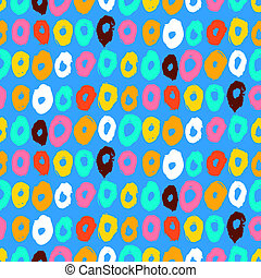 Hipster style multicolor vector pattern - Hipster style...