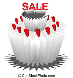 Love Sale - 3 Tier Cake on Sale for Valentines Day