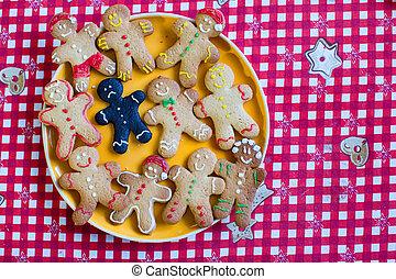 Sad Christmas burnt gingerbread man
