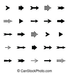 Arrow sign icon vector set - Arrow sign icon set