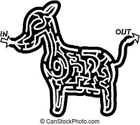 Dog maze - Creative design of dog maze