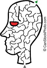Face maze - Creative design of face maze