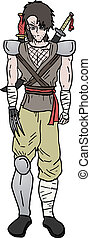 Warrior cartoon - Creative design of warrior cartoon