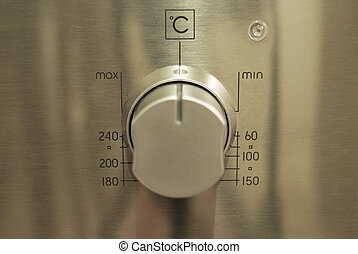 Oven control panel - There are four buttons on the control...