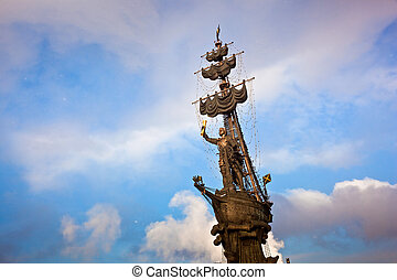 Peter the Great monument in Moscow, Russia