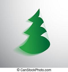 Paper fir tree. Vector