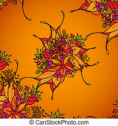 Texture for a background, orange flowers.