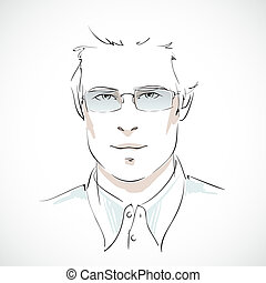 Young businessman portrait - Office business style. Young...