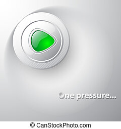 Web button with green inside