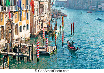 gondolier in Grand Canal