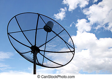 Satellite dish and Clouds on Blue sky - The Picture...