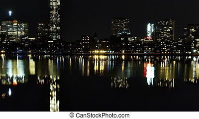 Timelapse Boston Skyline riverside - HD 1080p - Timelapse...