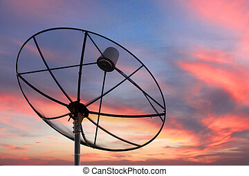 Satellite dish on Evening light - The Picture Satellite dish...