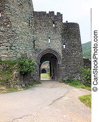 Entrance gateway, Akhtala Monastery - The only entrance to...