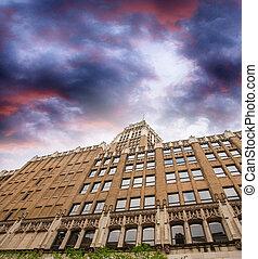 Beautiful sky over San Antonio buildings, Texas