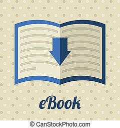 ebook design over dotted background vector illustration