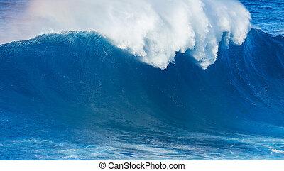 Blue Ocean Wave - Giant Blue Ocean Wave