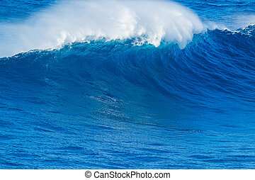 Blue Ocean Wave - Giant Blue Ocean Wave