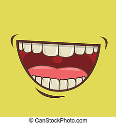 mouth design over green background vector illustration