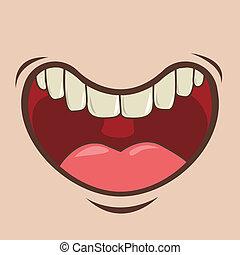 mouth design over pink background vector illustration