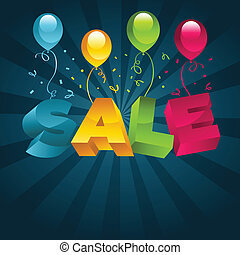Sale with Balloons