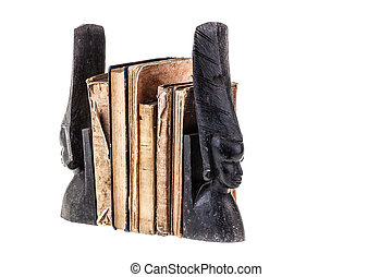 Ancient books - very ancient and worn books isolated over...