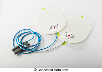 Defibrillator patches - a pair of automatic defibrillator...