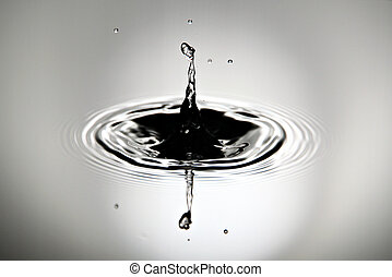 Pictures is water drops a beautiful shape. - Closeup...