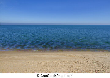calm seascape with a copy space