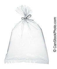 air in plastic bag - transparent plastic bag full with air...