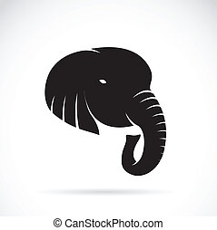 Vector image of an elephant head on a white background