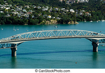 Auckland Cityscape - Harbour Bridge - AUCKLAND,NZ - JAN...