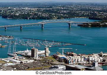 Auckland Cityscape - Harbour Bridge - AUCKLAND,NZ - JAN...