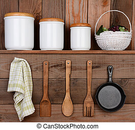 Rustic Kitchen Display
