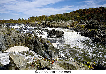 Great Falls of the Potomac River - Near Washington is the...