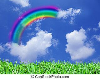 Rainbow - A beautiful rainbow in the sky