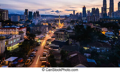 Kuala Lumpur City Pan and Zoom - Time lapse of Kuala Lumpur...
