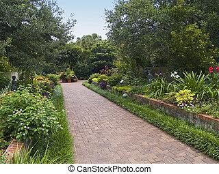 Brookgreen Pathway - A Summerview of Brookgreen Gardens near...